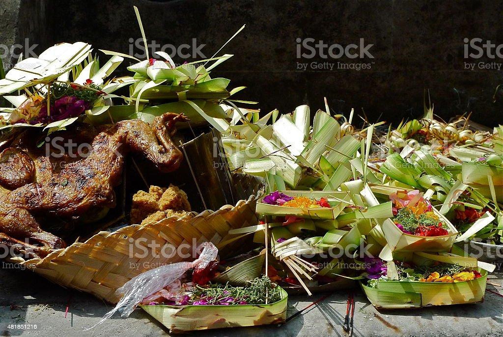 Bali - Offrandes traditionnelles - Hindouisme stock photo