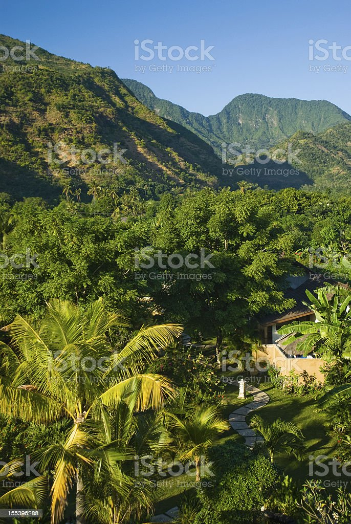 Bali path and landscape royalty-free stock photo