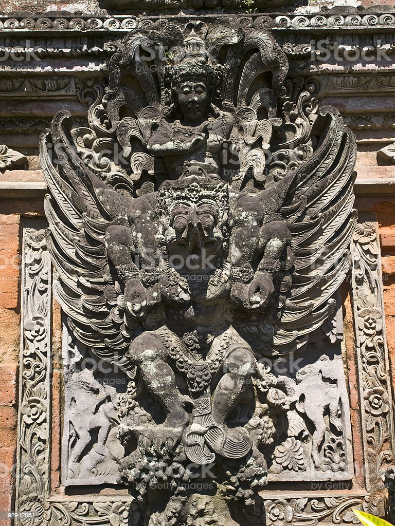 Bali Tempel in Ubud, detail royalty-free stock photo