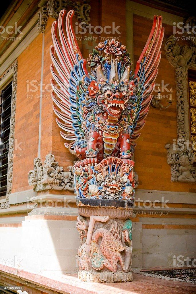 Bali Temple Dragon royalty-free stock photo