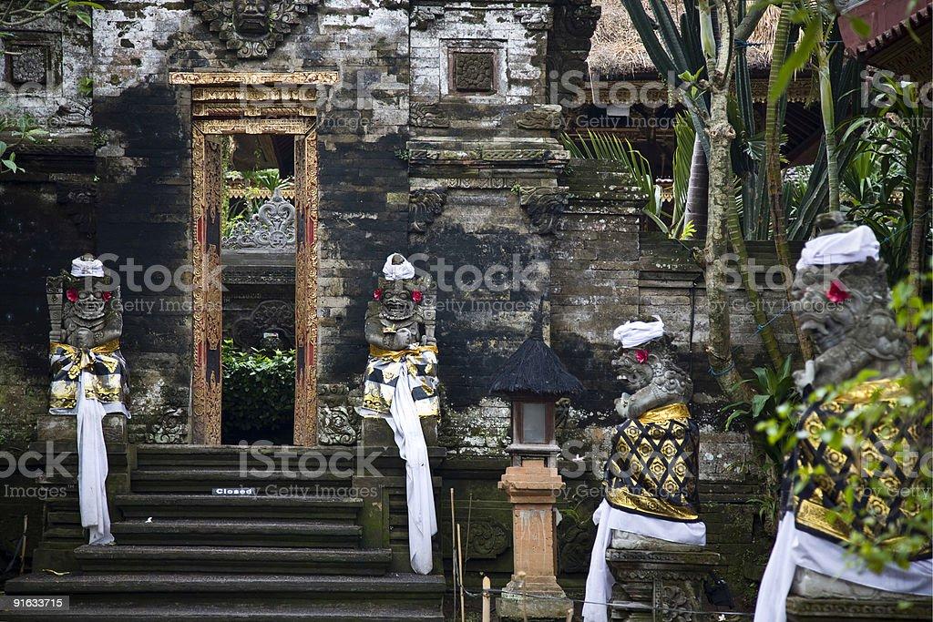 Bali temple entrance royalty-free stock photo