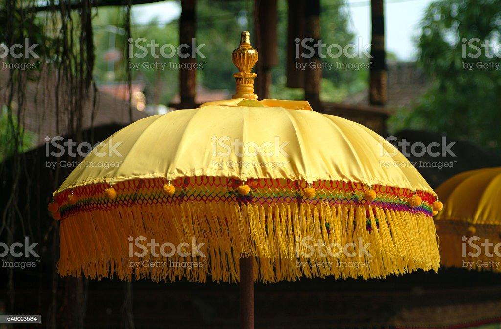 Bali Temple Umbrella stock photo