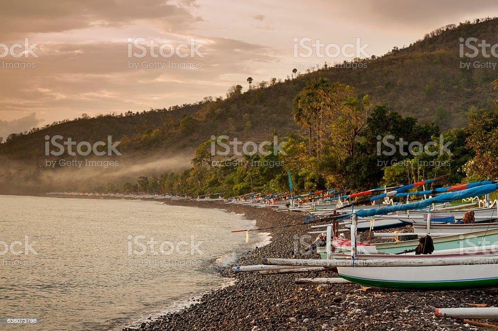 Bali Traditional Fishing Boats stock photo