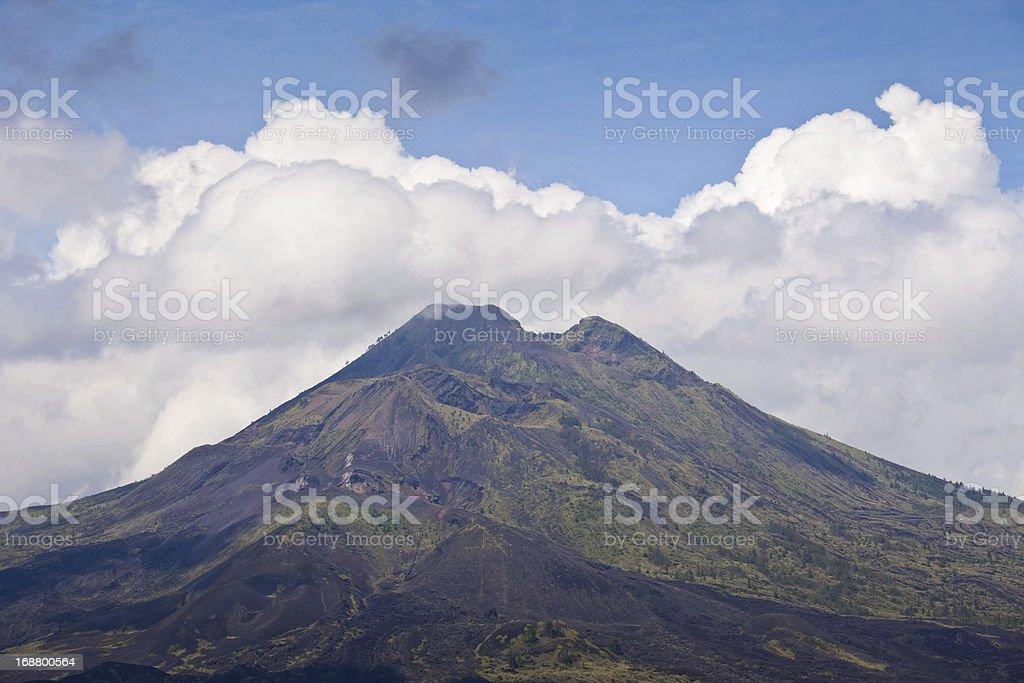 Bali volcano royalty-free stock photo