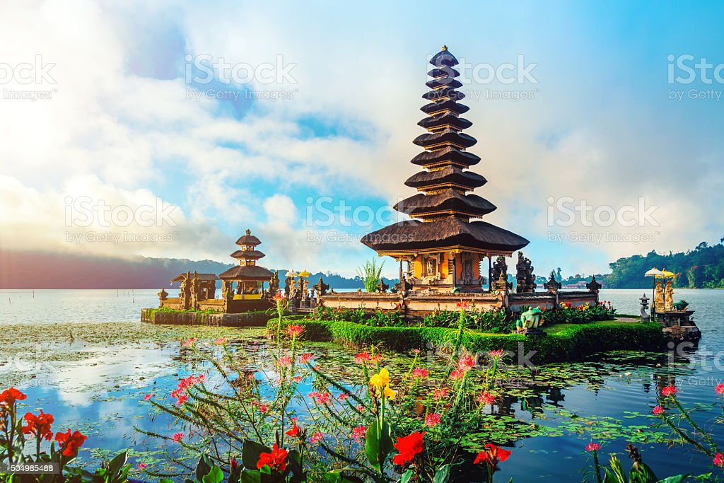 Bali Water Temple - Pura Ulun Danu stock photo