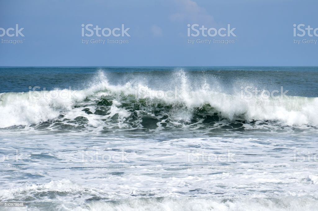 Bali waves stock photo