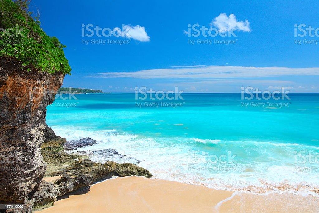 Balines beach stock photo