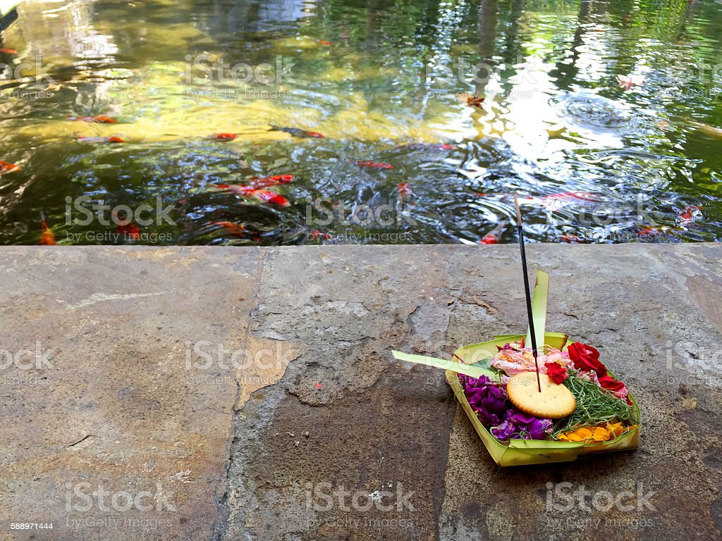 Balinese believe that God dwells in all over the place stock photo