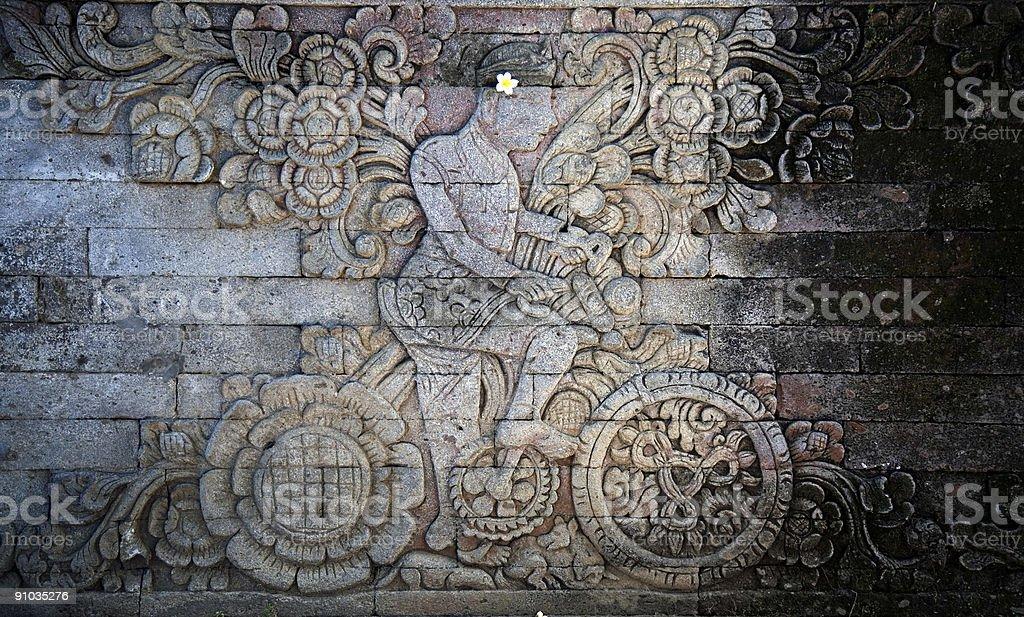 Balinese carving 1 royalty-free stock photo