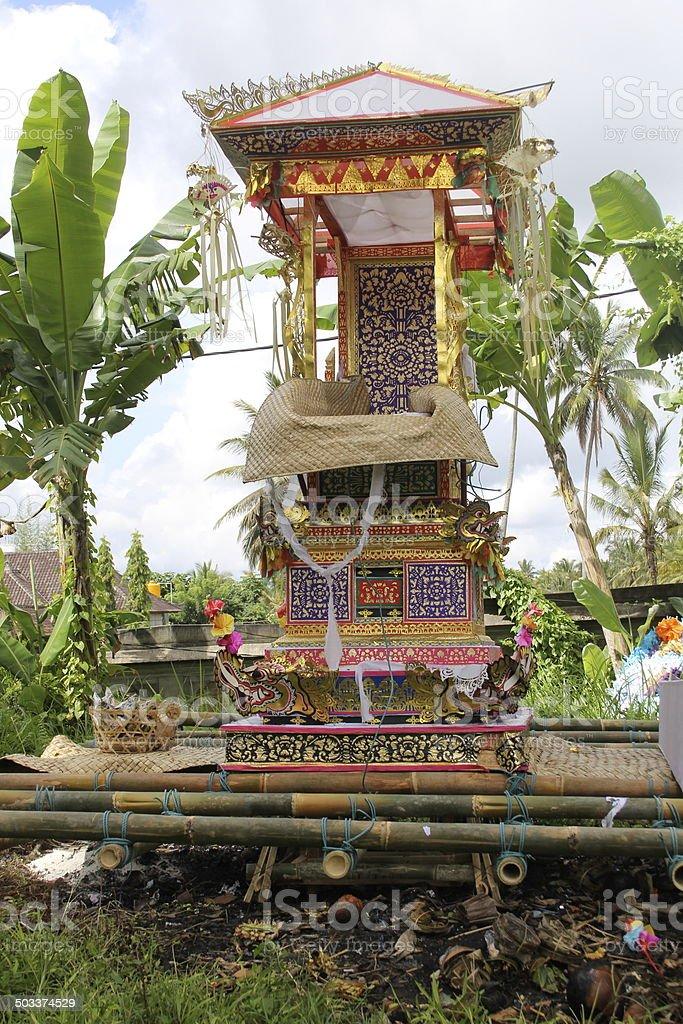 Balinese Ceremonial Palanquin stock photo