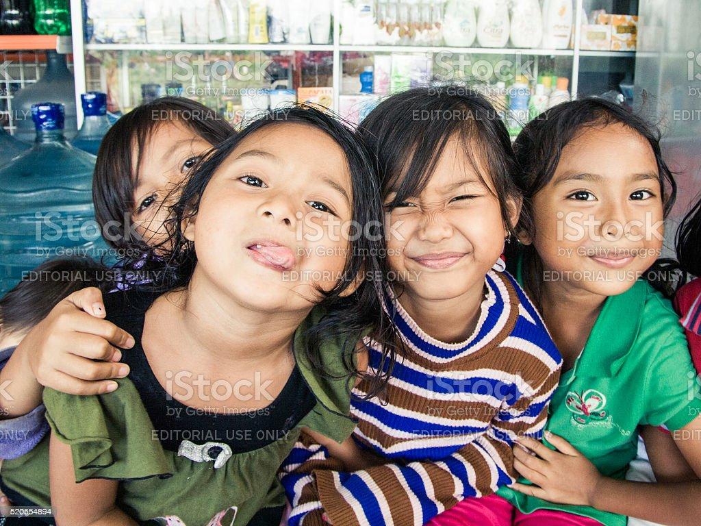 Balinese children stock photo