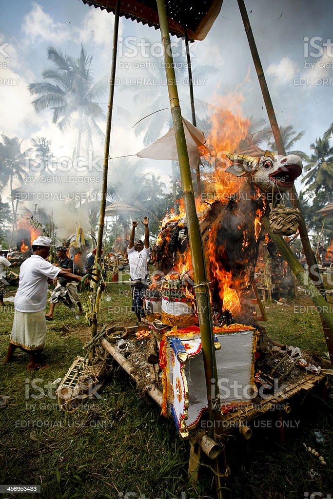 Balinese Cremation Bali Indonesia royalty-free stock photo