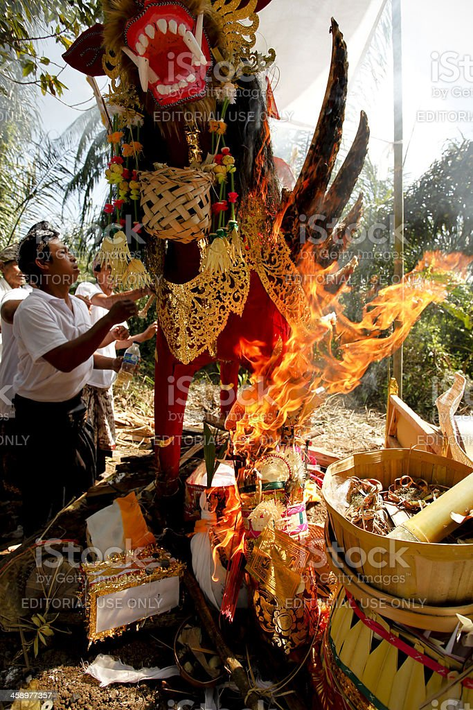 Balinese Cremation Bali Indonesia royalty-free stock photo