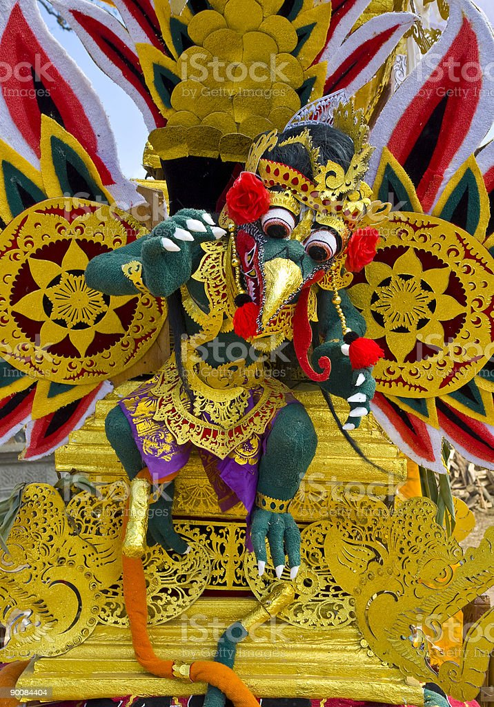 Balinese cremation tower royalty-free stock photo