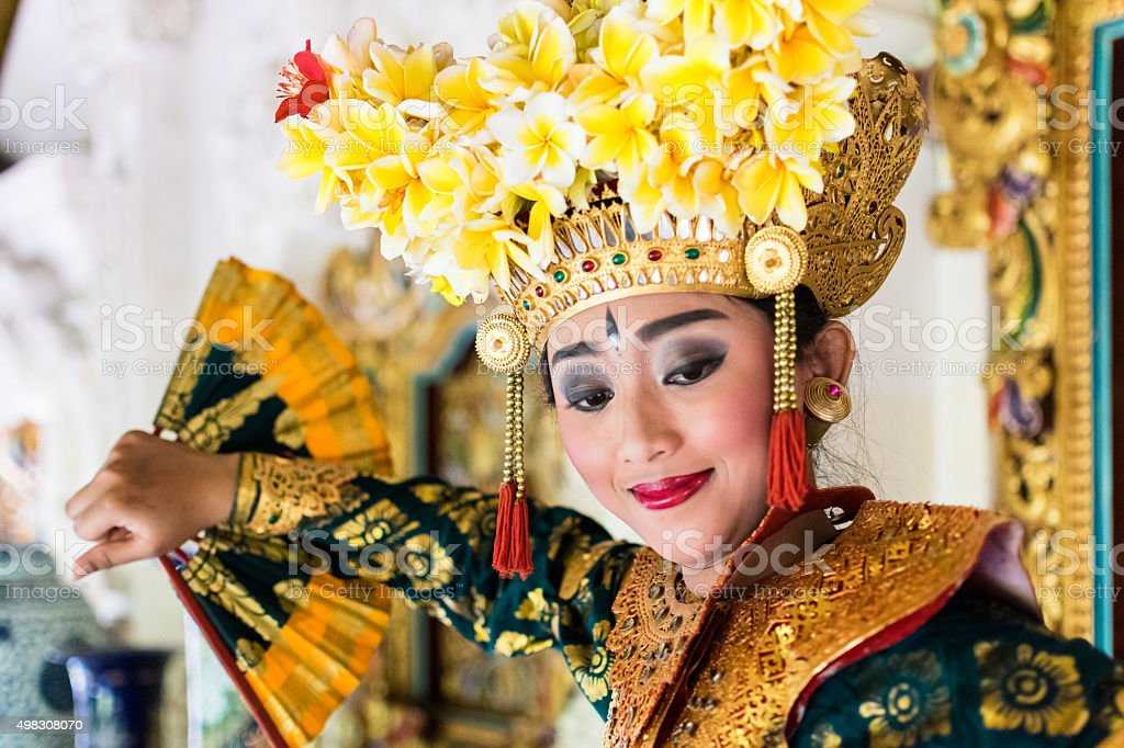 balinese dancer stock photo