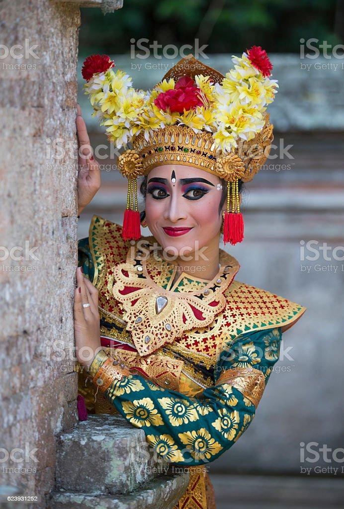 balinese dancer stock photo