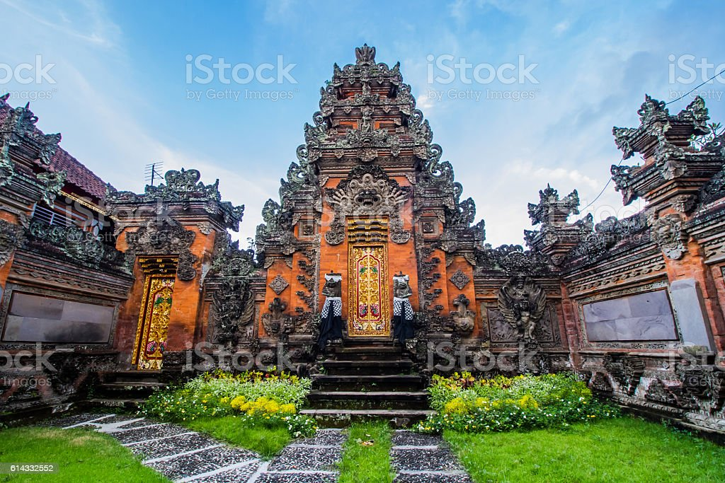 Balinese door facade stock photo