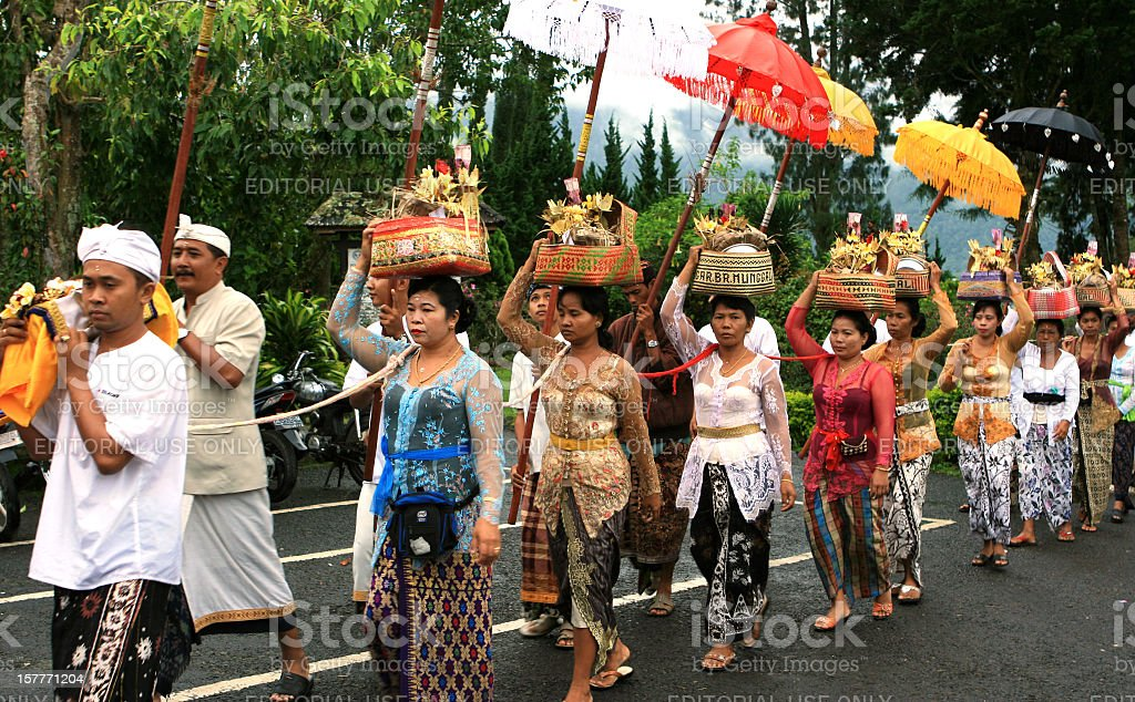 Balinese Funeral Procession stock photo