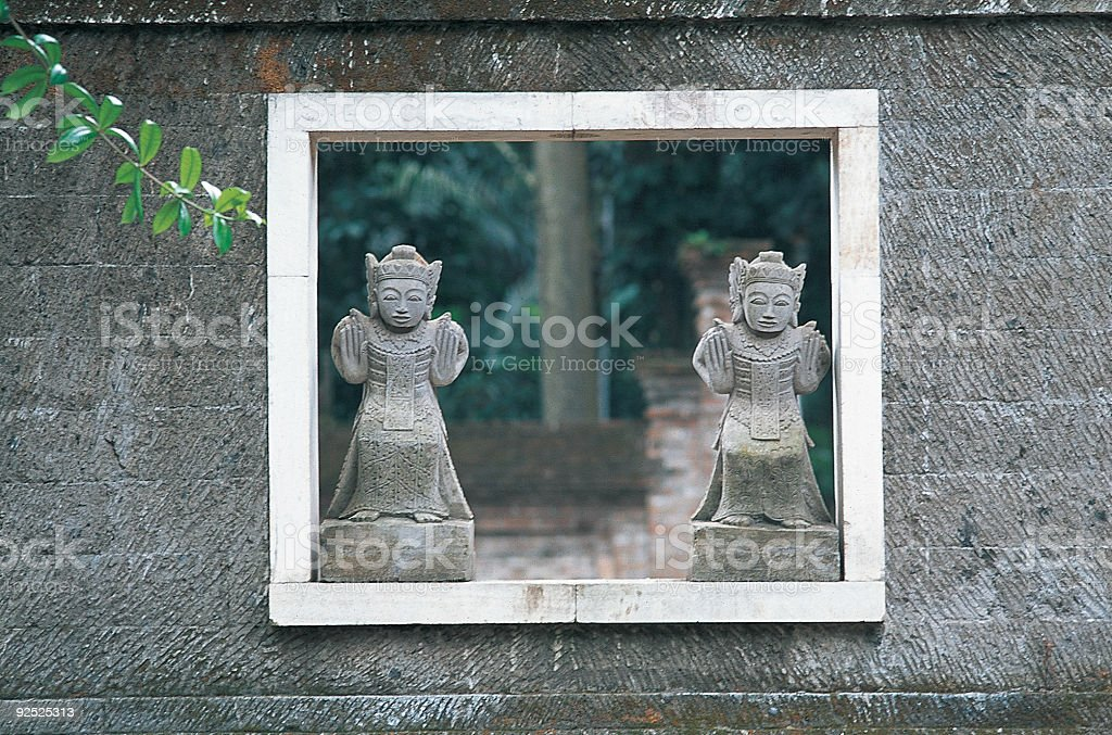 Balinese Garden royalty-free stock photo