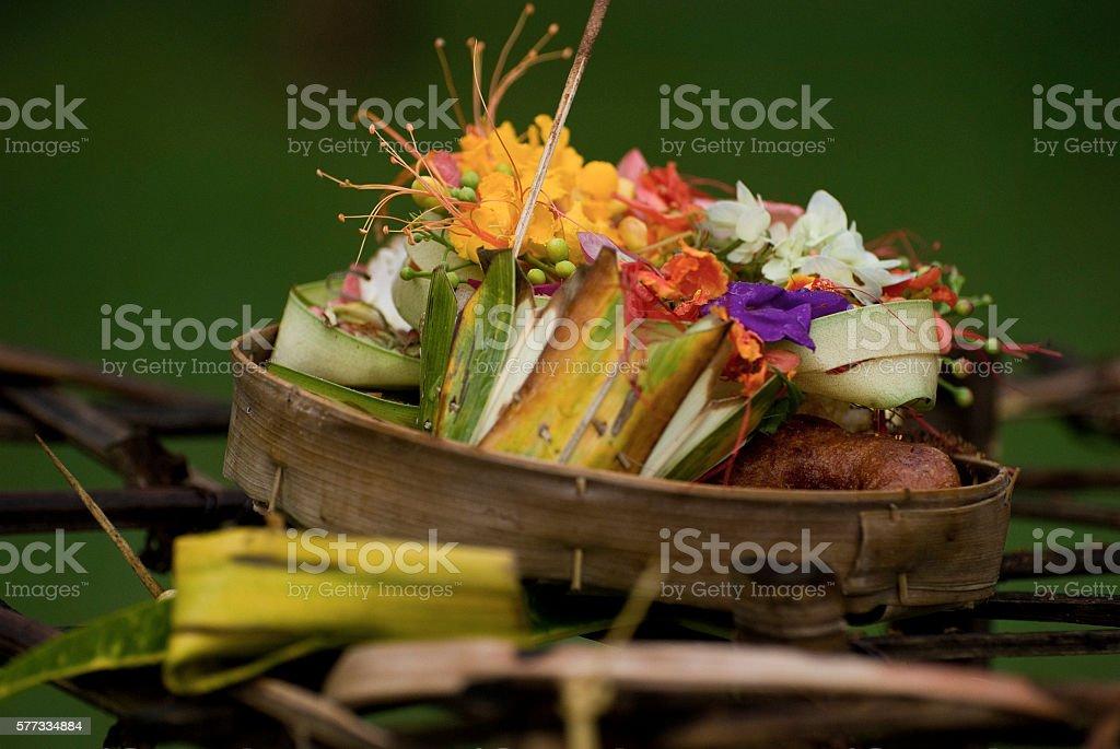 Balinese Hindu Offerings stock photo