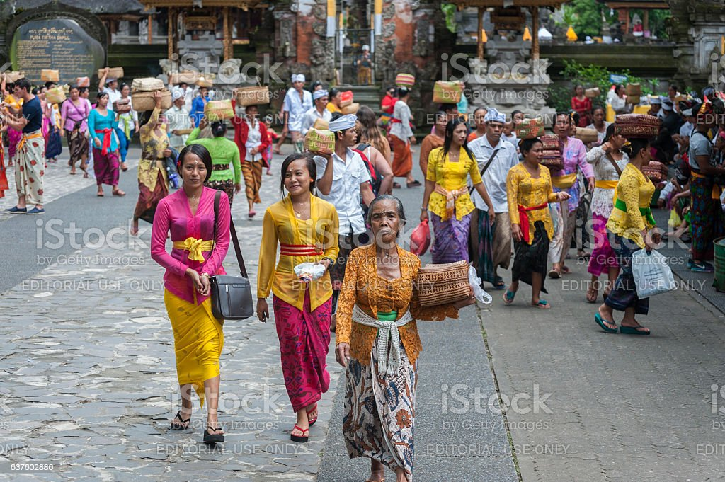 Balinese Hindu Temple Tirta Empul, Bali, Indonesia stock photo