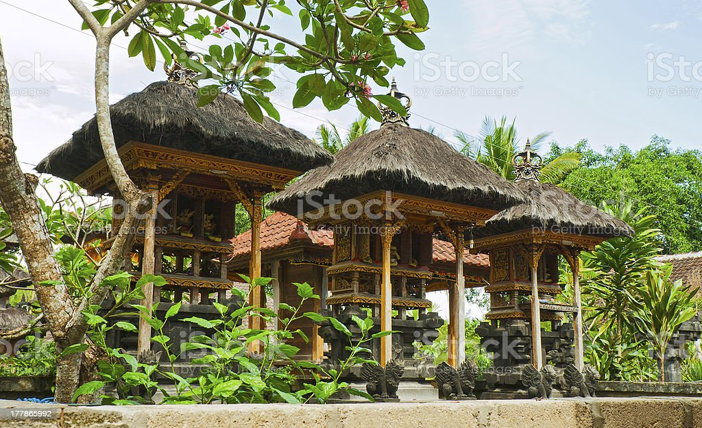 Balinese home temple royalty-free stock photo