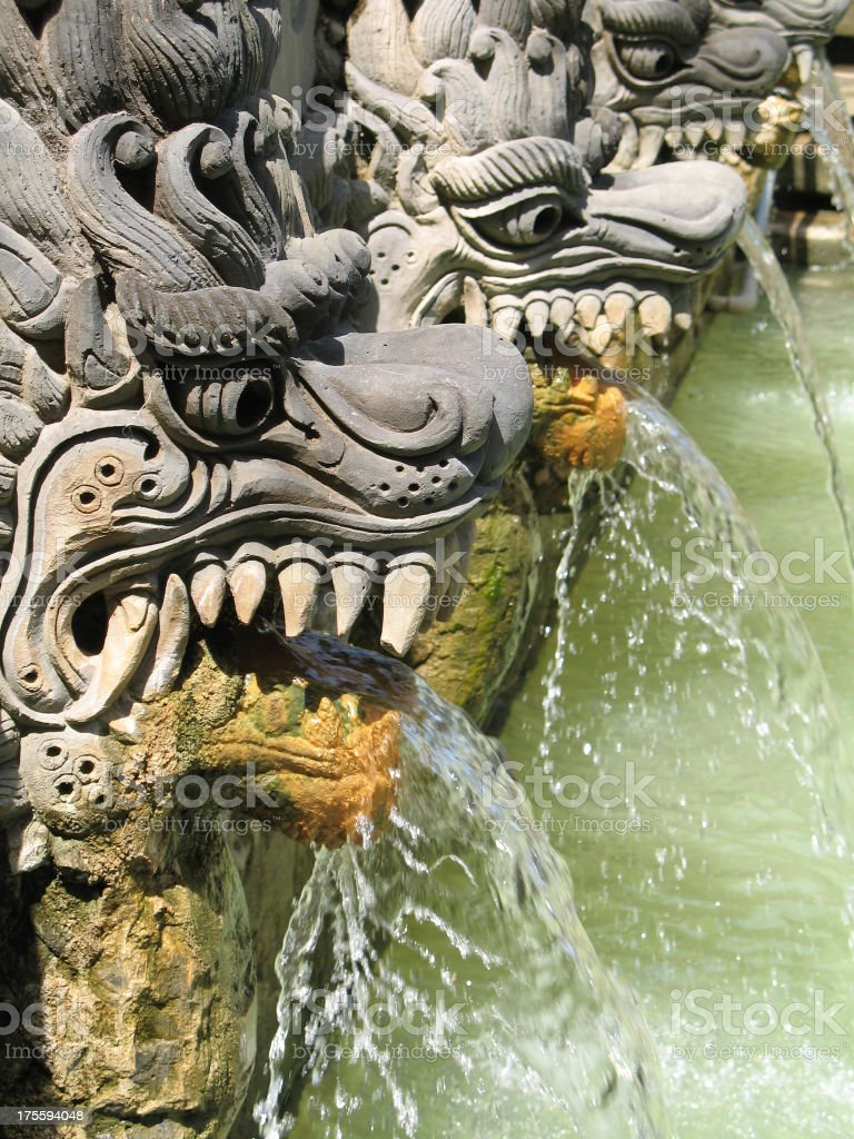 Balinese Hot Spring 1 royalty-free stock photo