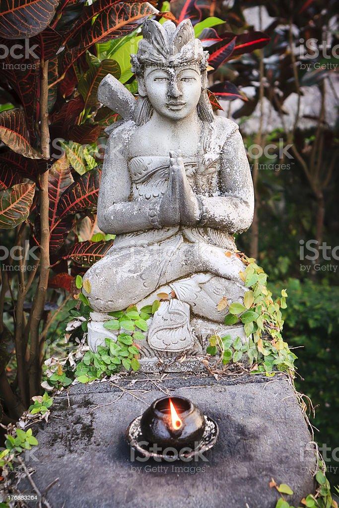 Balinese Male Stone statue stock photo