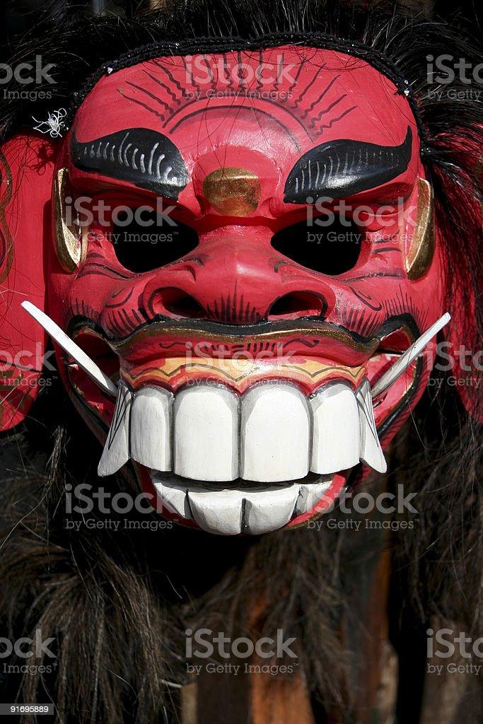 balinese mask royalty-free stock photo