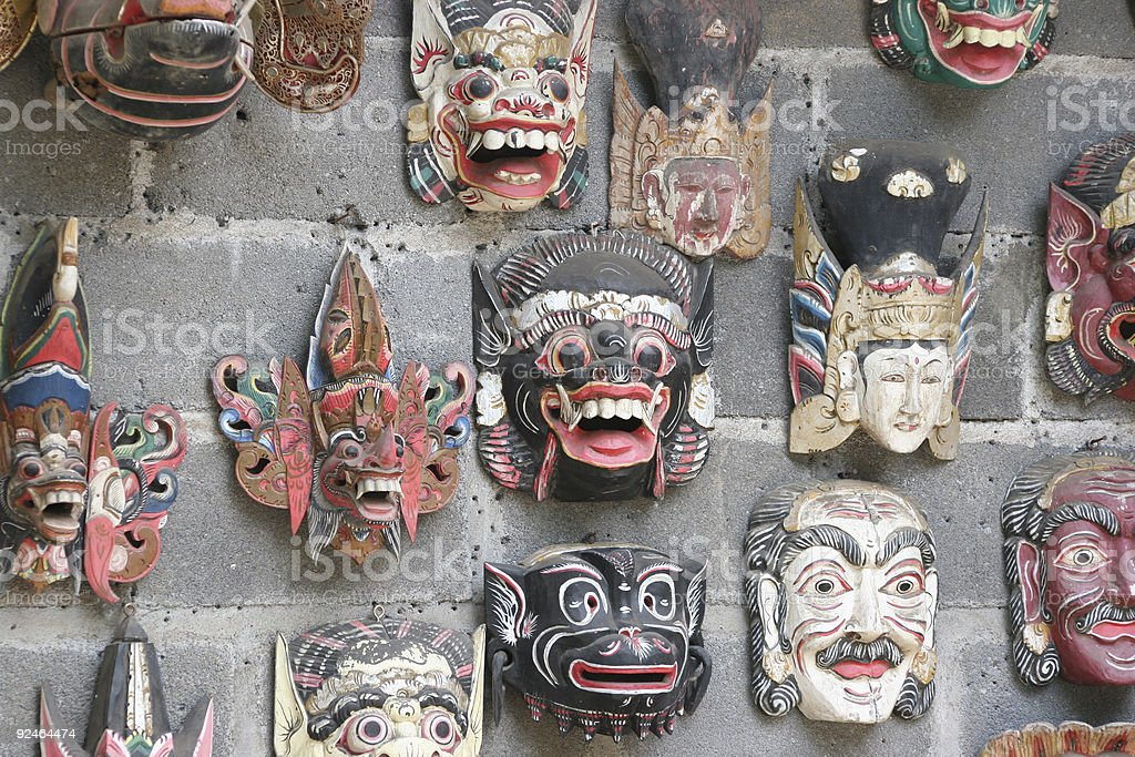 Balinese Masks royalty-free stock photo