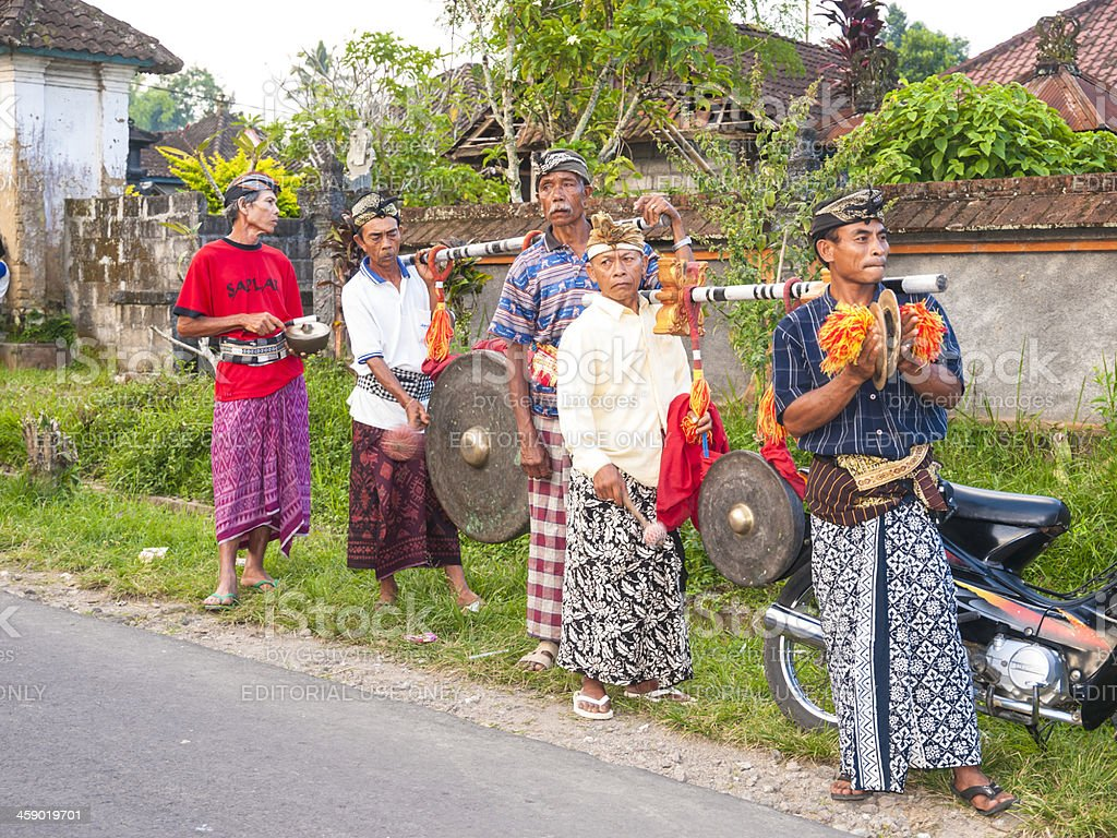 Balinese musicians royalty-free stock photo