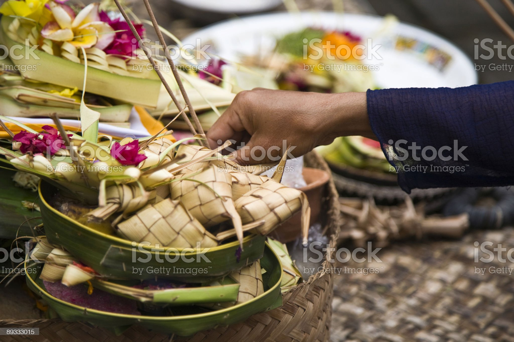 Balinese offering royalty-free stock photo