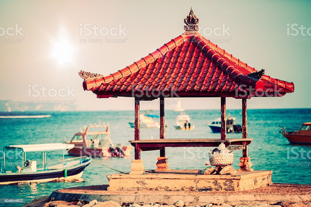 Balinese Pergola stock photo