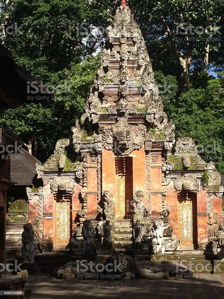 Balinese shrine stock photo
