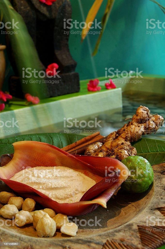 Balinese spa stock photo