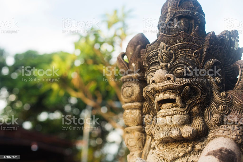 Balinese Temple Carving royalty-free stock photo