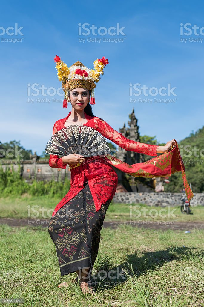 Balinese Traditional Costume stock photo