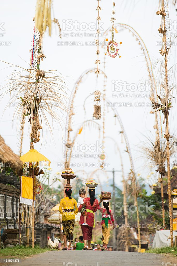 Balinese woman with child stock photo