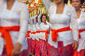 Balinese women with religious offering