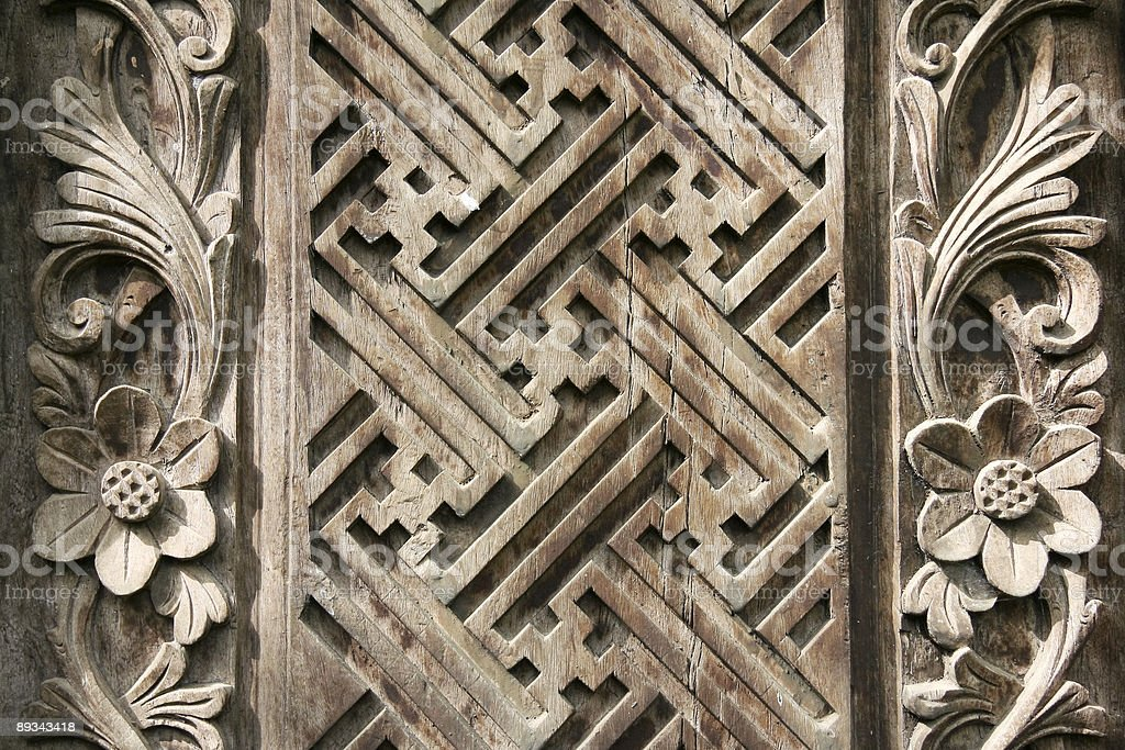 balinese wood carving background royalty-free stock photo