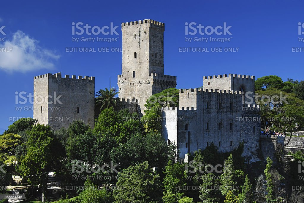 Balio Castle, Erice, Sicily royalty-free stock photo