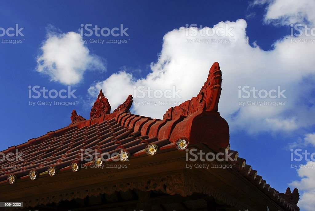 Bali's roof architecture royalty-free stock photo