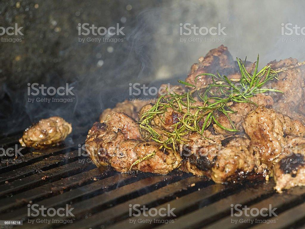 Balkan grill stock photo