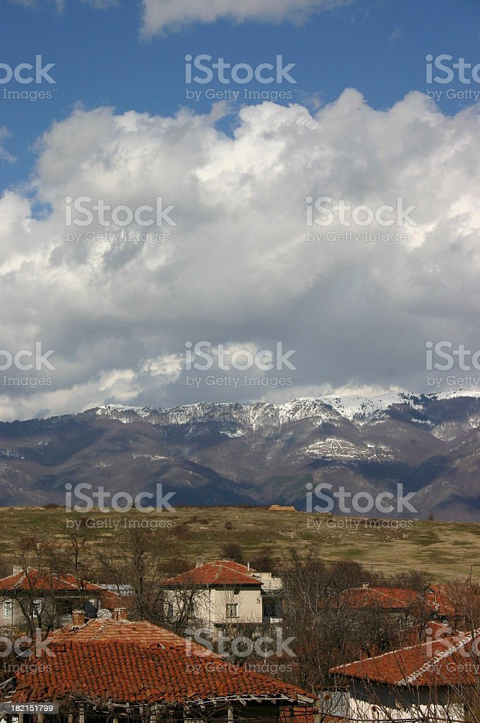 Balkan Mountains I Views from Bulgaria royalty-free stock photo