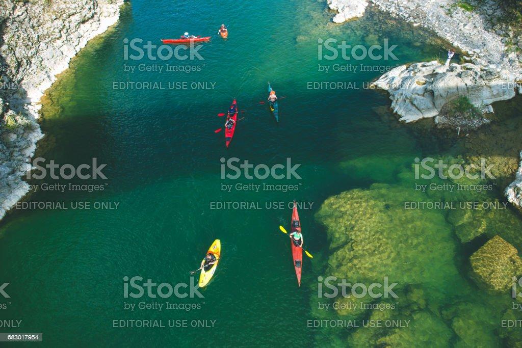 Balkan Rivers Tour - Soca River, Slovenia stock photo
