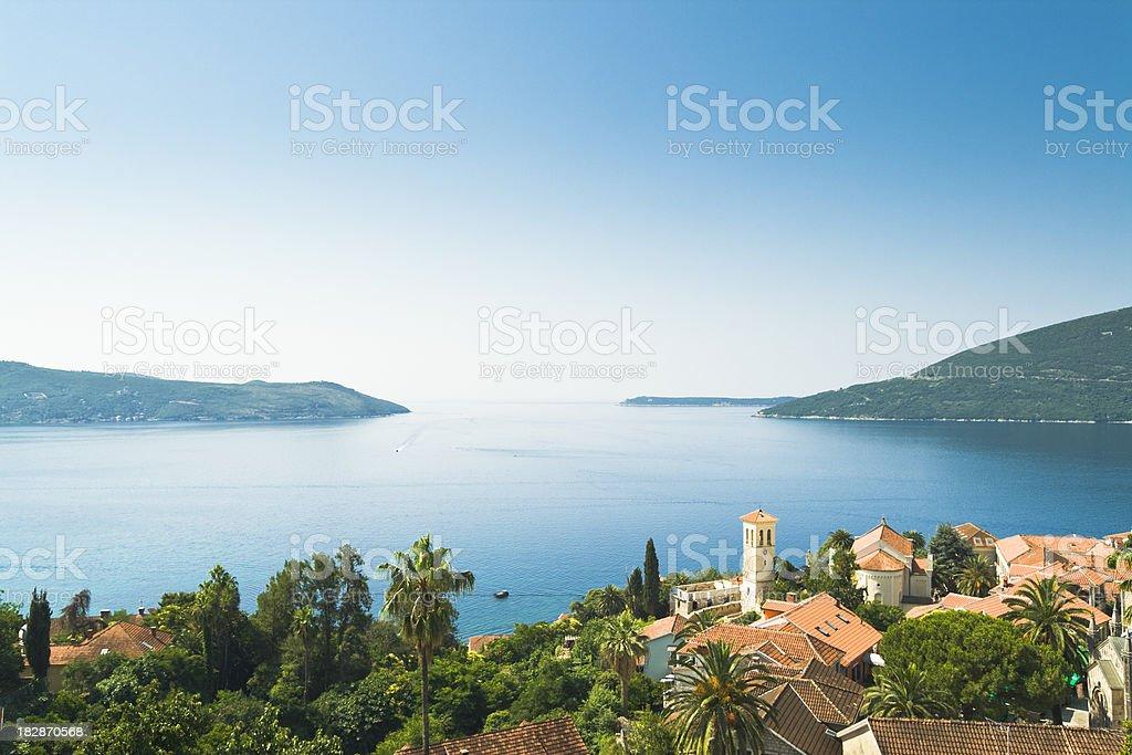 Balkan town stock photo