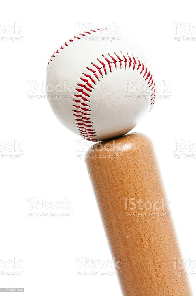 ball and baseball bat royalty-free stock photo