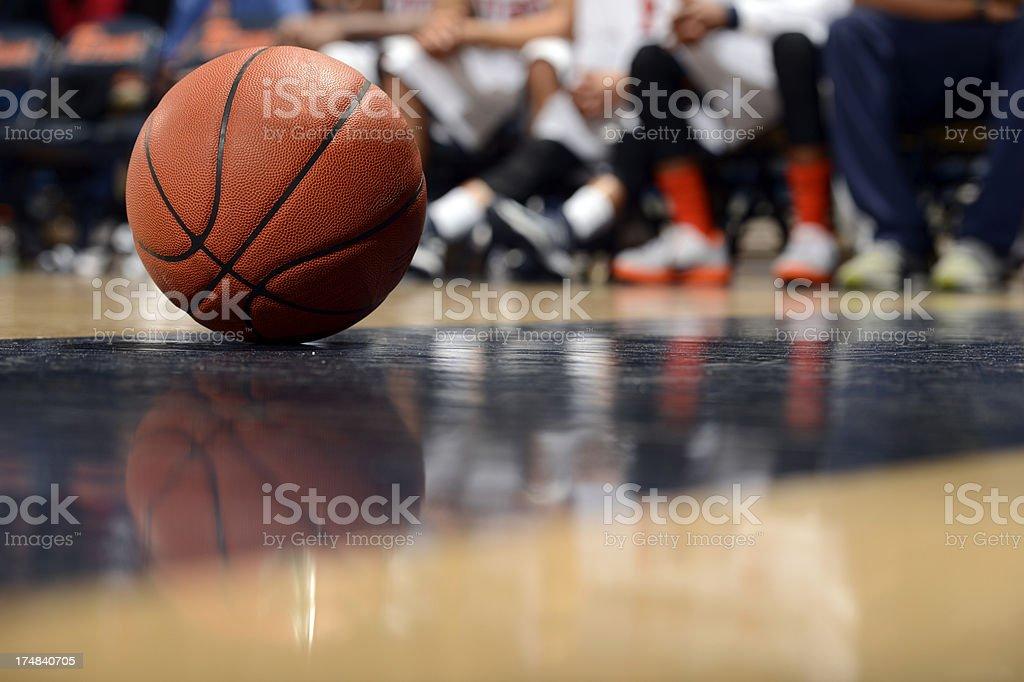 Ball and Basketball Court stock photo