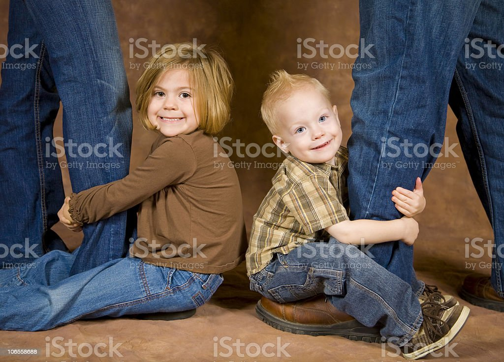 Ball and Chain Children royalty-free stock photo