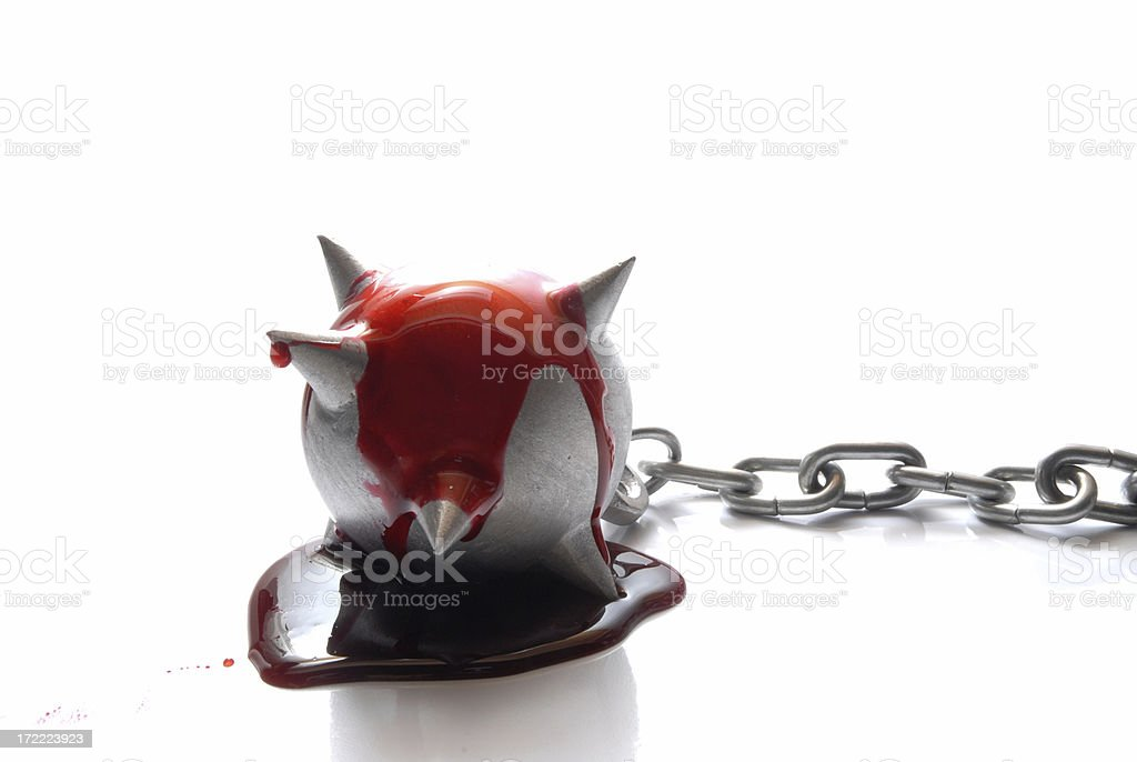 Ball and chain royalty-free stock photo